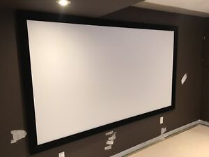"""Epson Home Theater Projector and 106"""" Screen"""