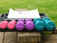 Pro fitness coloured hand weights