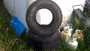 BOB CAT / Skid Steer Tires / Well used . no rims . 12x16.5