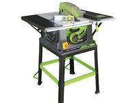 Evolution fury 5 table saw,as new used for one project only..