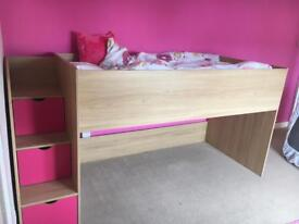 Cabin bed with storage stairs