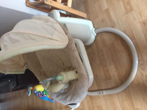 Like new baby swing and bouncy seat