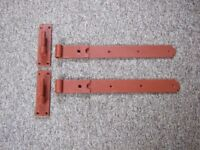 Hinges Hook and Band Straight Cast Iron - Heavy Duty Outdoor Use.