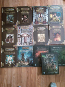 RPG books: Dungeons and Dragons 3.5, Rogue Trader (wh40k rpg)