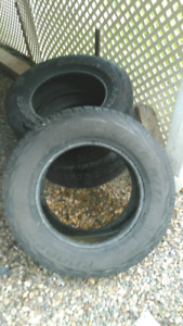 Cooper 275 65 18 tires. 3 only