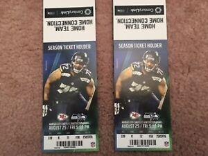Seattle Seahawks versus Kansas City Chiefs-Two Tickets