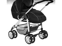 Silver cross linear freeway pushchair pram , car seat and isofix base