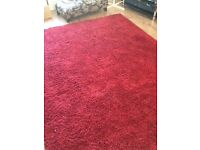 Red Rug - from 'NEXT' last year 200mm x 290mm - lovely condition customer to pick up CB21 6BB
