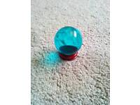 London Blue Topaz Globe on stand. £5.00. Can post.