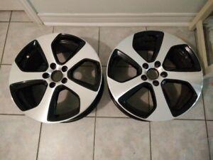 Pair of Volkswagen GTI 5x112 OEM Austin Wheels