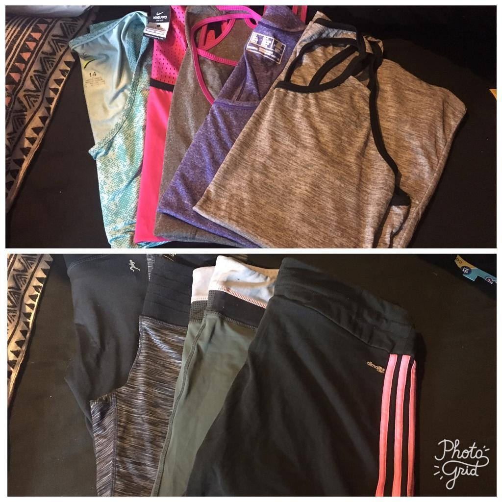 Fitness clothes size 12 14in Banbury, OxfordshireGumtree - Fitness tops and trousers Size 12 14 Good condition have been wornCollection from Charlton outside banbury