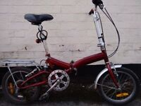 Rome Explorer folding bike. Excellent conditions! Lights, locker and helmet included!!