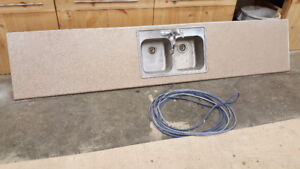 Laminate counter top with sink & pull out faucet