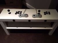2 PLAYER ARCADE COFFEE TABLE WITH 1000's OF ARCADE, NES, SNES, MASTERSYSTEM & MEGADRIVE GAMES