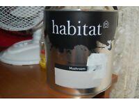 Habitat New Paint 2 x 2.5L MUSHROOM COLOURED PAINT