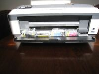 A3 Epson Office B1100 Printer and ink cartridges