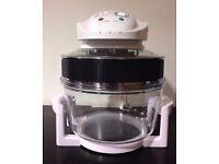 12 Litre Premium Halogen Oven Cooker + Extender Ring ( WHITE)