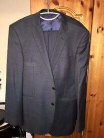 Blue Two Piece Men's Suit by Lanificio F.lli Cerruti 42R Jacket 34R Trousers