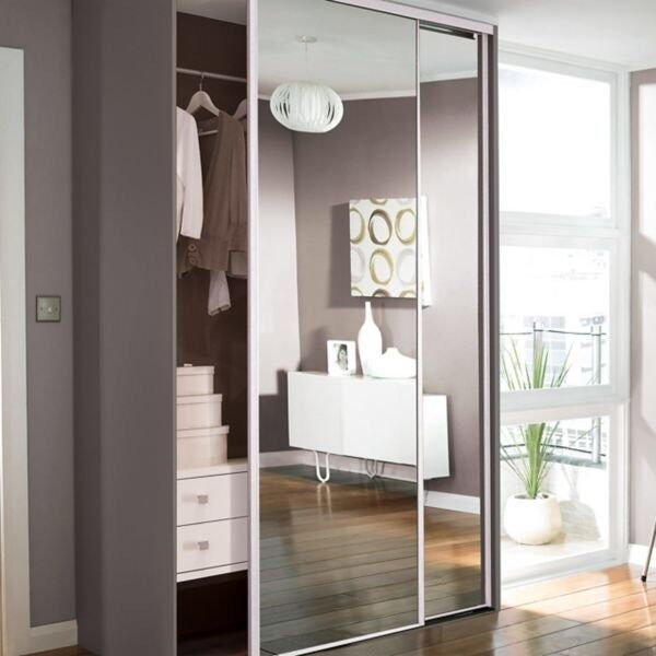 Mirror Sliding Wardrobe Doors Incl Track Etc