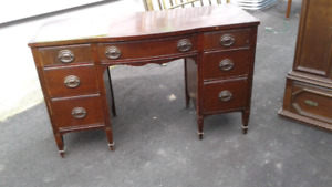 Solid wood desks, tables, China cabinet