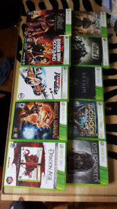 Used X360 videogames in excellent conditions.  5 dollars each ga