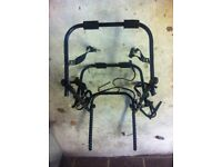 Bike carrier for car. Takes 3 bikes. Good condition. All intact. Great for cycle transportation.