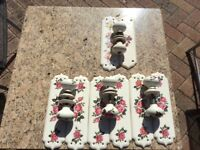 Porcelain door plates and handles