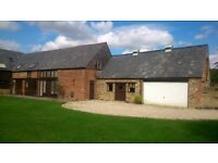 Fabulous 5 bed converted barn with the option to also rent a self contained stable block.
