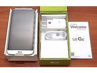Brand new unlocked LG G5 silver phone.