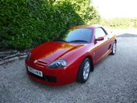 STUNNING RED LOW MILEAGE 2003 MG TF IN IMMACULATE CONDITION, INCLUDES GENUINE MG HARDTOP