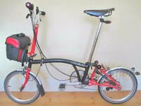 Custom Built Brompton M6L Folding Bike With (Optional) Ortlieb Bag & Accessories