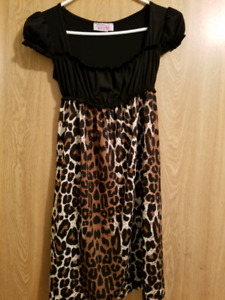Animal Print Dress with matching Purse
