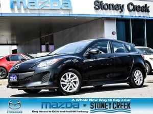 2013 Mazda MAZDA3 GS AUTO,HEATED, SUNROOF, LEASE RETURN, ACC FRE