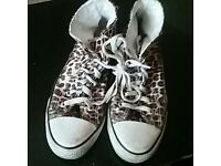 Converse high trainers size 6