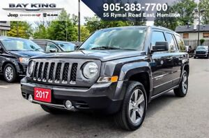 2017 Jeep Patriot HIGH ALTITIUDE, 4X4, SUNROOF, BLUETOOTH, A/C
