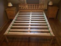 Bedroom furniture, double bed, wardrobe and two bedside cabinets
