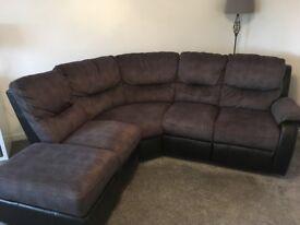 Harvey's Curved Recliner Sofa