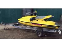 1997 seadoo xp 800 jet ski and trailer