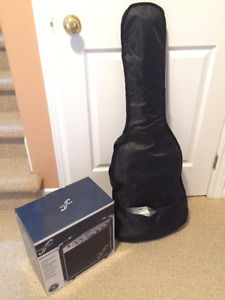 Black Robson electric guitar + First Act amp