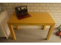 West Elm Parsons Desk (yellow)