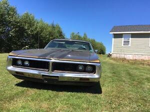 1972 Mopar Newport Custom 2 Dr 400 Big Block dual exhaust