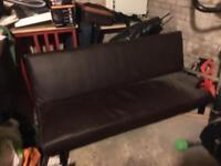 Fold down sofa bed