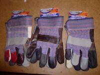 Medium / Heavy Duty Rigger Work Gloves (3 Pairs)