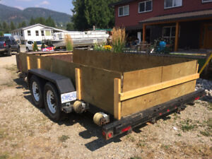 Flat deck trailer rentals. Trailer available for rent