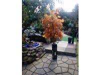 Artificial Acer tree with tall laquard mother of pearl planter forsale