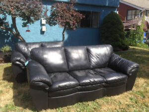 Leather Couch and Loveseat - $1000 O.B.O