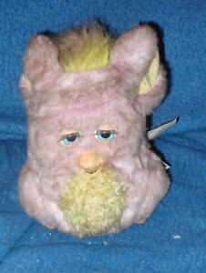 RARE PINK and yellow FUNKY FURBY 2005 2006 TIGER TALKING TOY HAS