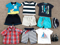 Summer Baby Boy Clothes - T shirts and Shorts - age 9-12 months - Next & John Lewis