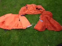 Life Jackets x 3 and 4 Ft Dinghy Oars