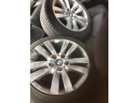 Bmw 17inch wheels good tyres